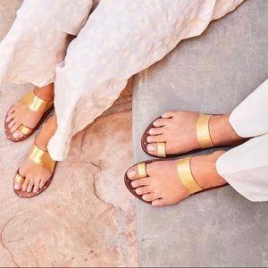 Beek Finch Gold/Tan leather sandal